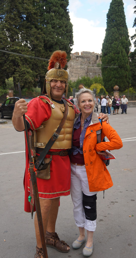 roman soldier and Sondra Sneed