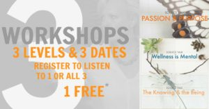 3 WORKSHOPS 3 LEVELS 3 DATES